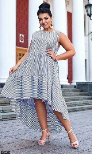 Платье 880469 синий Лето 2019 Украина