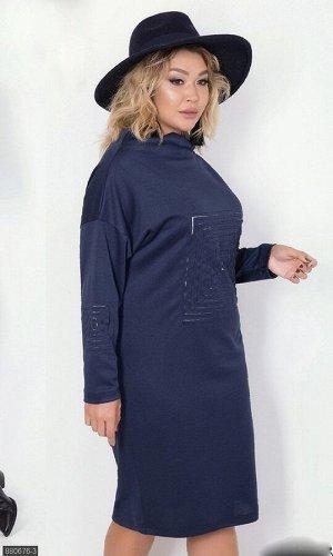 Платье 880676-3 синий Осень-Зима 2019 Украина