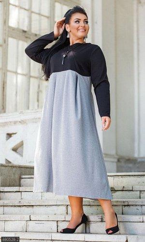 Платье 880528-2 серый Осень 2019 Украина