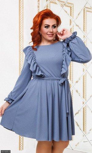 Платье 851805-5 серый Осень-Зима 2019 Украина