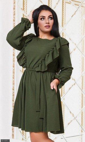 Платье 851805-2 хаки Осень-Зима 2019 Украина