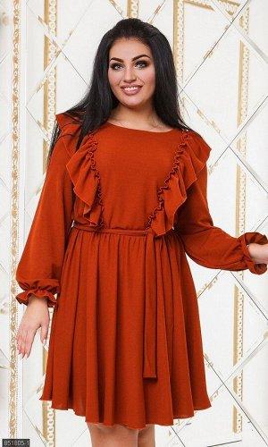 Платье 851805-1 терракотовый Осень-Зима 2019 Украина