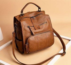 Сумочка-рюкзак, коричневый