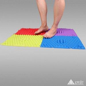 Коврик Коврик массажный модульный (4 модуля) Цвет готового изделия может отличаться от цвета, представленного на фотографии. Коврик воздействует на акупунктурные зоны стопы методом рефлексотерапии:  С