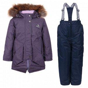 Фиолетовый Мембранная ткань, Teflon TPU 3k/3k,  пэ/флис,  термофайбер Куртка:  -300 g термофайбер п/к:  -200g