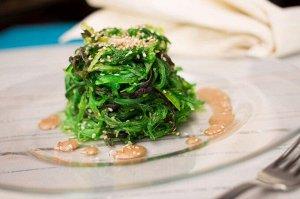Салат из морских водорослей Чука (Хияши Вакаме), 30% 0,5кг прозрачный пакет