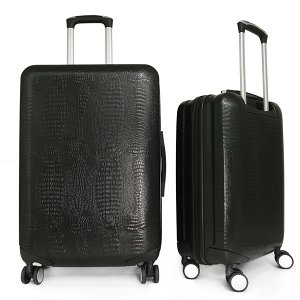 Комплект чемоданов Borgo Antico. ABS 8029 EY black (4 колеса)