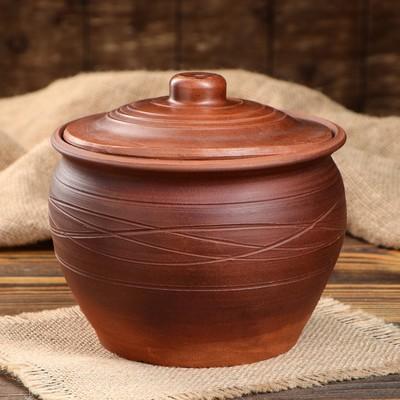 Много Глиняной Посуды  20. Полезно + Безопасно!  — ГОРШОК для ЗАПЕКАНИЯ  КРАСНАЯ  ГЛИНА — Для запекания и выпечки