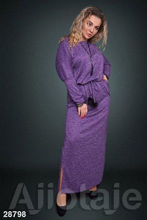Фиолетовое платье макси с открытой спинкой
