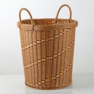 Корзина универсальная плетёная Доляна «Ультра», 37?37?37 см, цвет коричневый