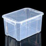 Ящик для xранения с крышкой econova «Кристалл XS Plus», 16 л, 38,9?27,5?21,5 см, цвет прозрачный