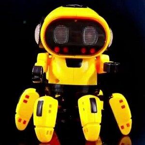Робот - танцующий, желтый