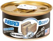 """Ароматизатор воздуха на панель органический """"ABRO Scent"""" Черный бриллиант 42г AS-560-BD"""