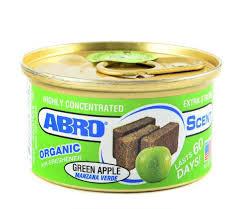 """Ароматизатор воздуха на панель органический """"ABRO Scent"""" Зеленое яблоко 42г AS-560-GA"""