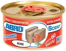 """Ароматизатор воздуха на панель органический """"ABRO Scent"""" Роза 42г AS-560-RO"""