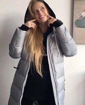 """Куртка зимн. 2в1 """"Монреаль"""" для беременных серая"""