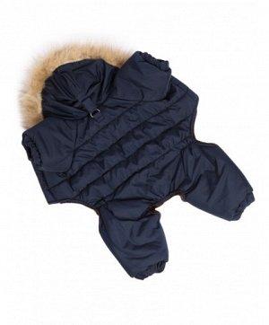 Комбинезон утепленный унисекс Winter р.М, спинка 30см, капюшон, синий, LION