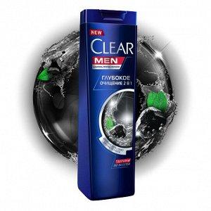 Шампунь CLEAR 400мл 2в1 Глубокое Очищение п/перхоти муж.