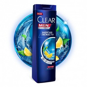 Шампунь CLEAR CARAT 400мл п/перхоти Энергия свежести д/мужчин