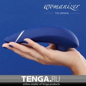 WOMANIZER PREMIUM Blueberry/CHROME Бесконтактный клиторальный стимулятор. Черника