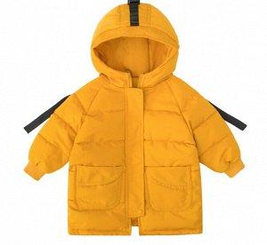 Куртка с капюшоном удлиненная для мальчика на синтепоне