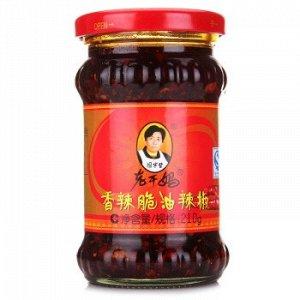 Соус 'Острый соус с хрустящим перцем чили', Lao Gan Ma, 210 г, ст./б.