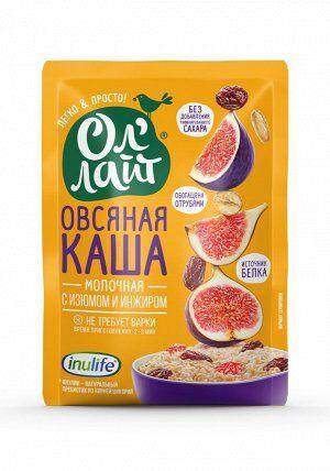 """Овсяная молочная каша быстрого приготовления """"Ол`лайт"""" с изюмом и инжиром, 40г"""