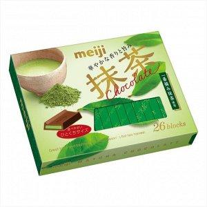 MEIJI Matcha Chocolate - молочный шоколад с зеленым чаем маття