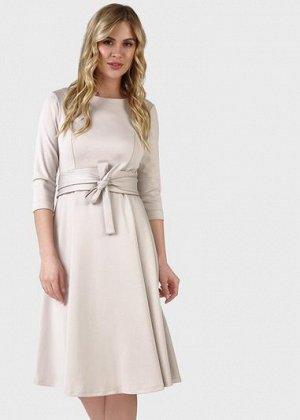 """Платье """"Талия"""" для беременных и кормящих; цвет: бежевый"""