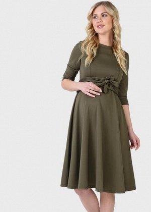 """Платье """"Талия"""" для беременных и кормящих; цвет: хаки"""