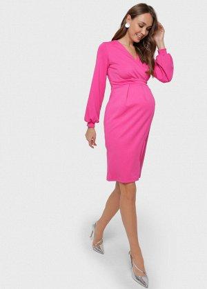 """Платье """"Кэрол"""" для беременных и кормящих; цвет: фуксия"""