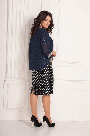 Женский комплект платье и шифоновый блузон