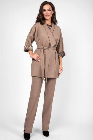 Женский комплект жакет, блузка и брюки