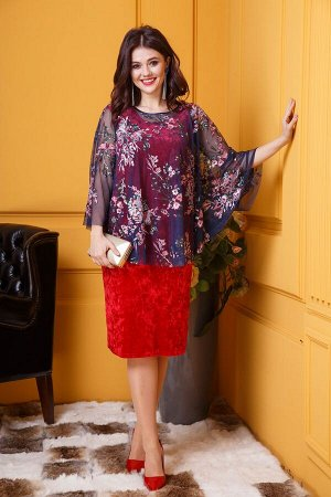 Женский комплект туника и платье