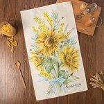 """Полотенце """"Этель"""" Солнечные цветы 40х73 см, 100% хлопок, саржа 190 г/м2"""