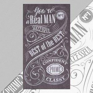 """Полотенце махровое Этель """"Real man"""" 70х130 см, 100% хлопок, 420гр/м2"""