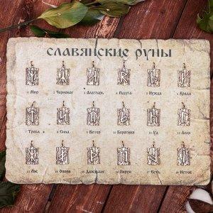 """Набор """"Славянские руны"""" 18 штук, из ювелирной бронзы"""