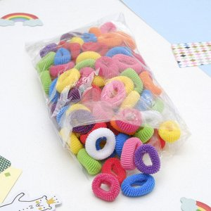 """Резинки для волос """"Махрушка"""", разноцветные (набор 100 шт.), 2,5 см"""