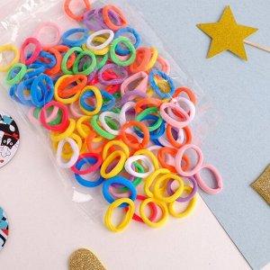 """Резинка для волос """"Махрушка спорт"""" (набор 100 шт) 2,5 см, разноцветные"""