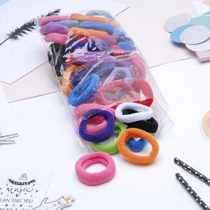 """Резинка для волос """"Махрушка"""" 7 см (набор 48 шт) разноцветные"""