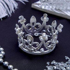 """Диадема для волос """"Королева"""" 5,5*3,5 см, корона"""