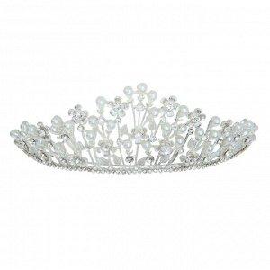 """Диадема для волос """"Королева"""" 6,5*24,5*16 см цветочная феерия"""