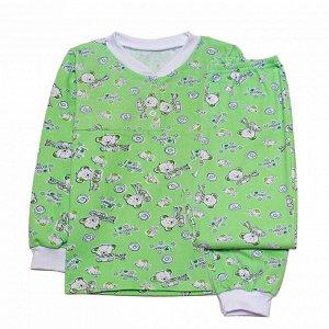 Пижама Ткань: футер начес Цвета в ассортименте.Теплая одежда для сна в прохладное время года.Кофта с длинным рукавом и короткой линией пуговиц у выреза, длинные брюки свободного покроя с поясом на рез