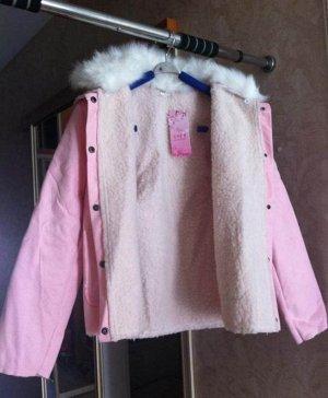 Пальто Розовое пальто (искусственные материалы, Китай) на весну-осень, тонкое, на 46 размер на рост 162 хорошо/ Внутри реальные фото. СКИДКА!!!!