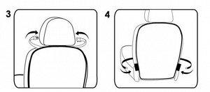 Накидка-незапинайка на спинку сиденья, черная окантовка, прозрачная