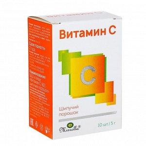Витамин C «Мирролла», шипучий порошок, 10 саше по 5 г