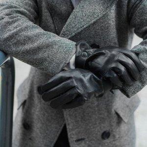 Перчатки мужские, р-р 11.5, цвет чёрный