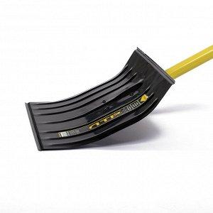 Лопата металлическая радиусная, ковш 360 ? 440 мм, металлический черенок, с ручкой