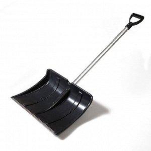 Лопата пластиковая, 500 ? 375 мм, с алюминиевой планкой, алюминиевый черенок, «Снеговик»