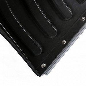 Лопата пластиковая, ковш 505 ? 340 мм, с оцинкованной планкой, алюминиевый черенок, «Буран»